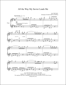 All the Way My Savor Leads Me Piano Sheet Music