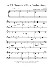 As With Gladness with Let All Mortal Flesh Keep Silence Piano Sheet Music