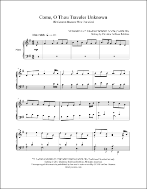 Come, O Thou Traveler Unknown Piano Sheet Music