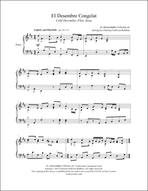 Cold December Flies Away (El Desembre Congelat) Piano Sheet Music