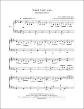 Fairest Lord Jesus (Beautiful Savior) Piano Sheet Music (affiliate link)