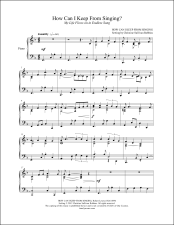 How Can I Keep From Singing Piano Sheet Music