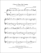 I Vow to Thee My Country (O God Beyond All Praising) Piano Sheet Music