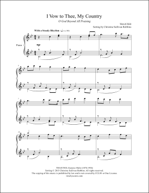 I Vow to Thee, My Country (O God Beyond All Praising) Piano Sheet Music