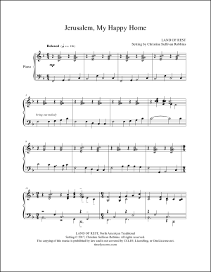Jerusalem, My Happy Home Piano Sheet Music