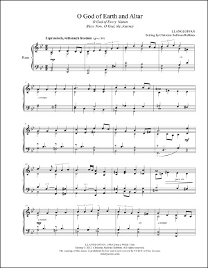 O God of Earth and Altar Piano Sheet Music