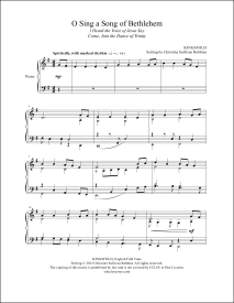 O Sing a Song of Bethlehem Piano Sheet Music