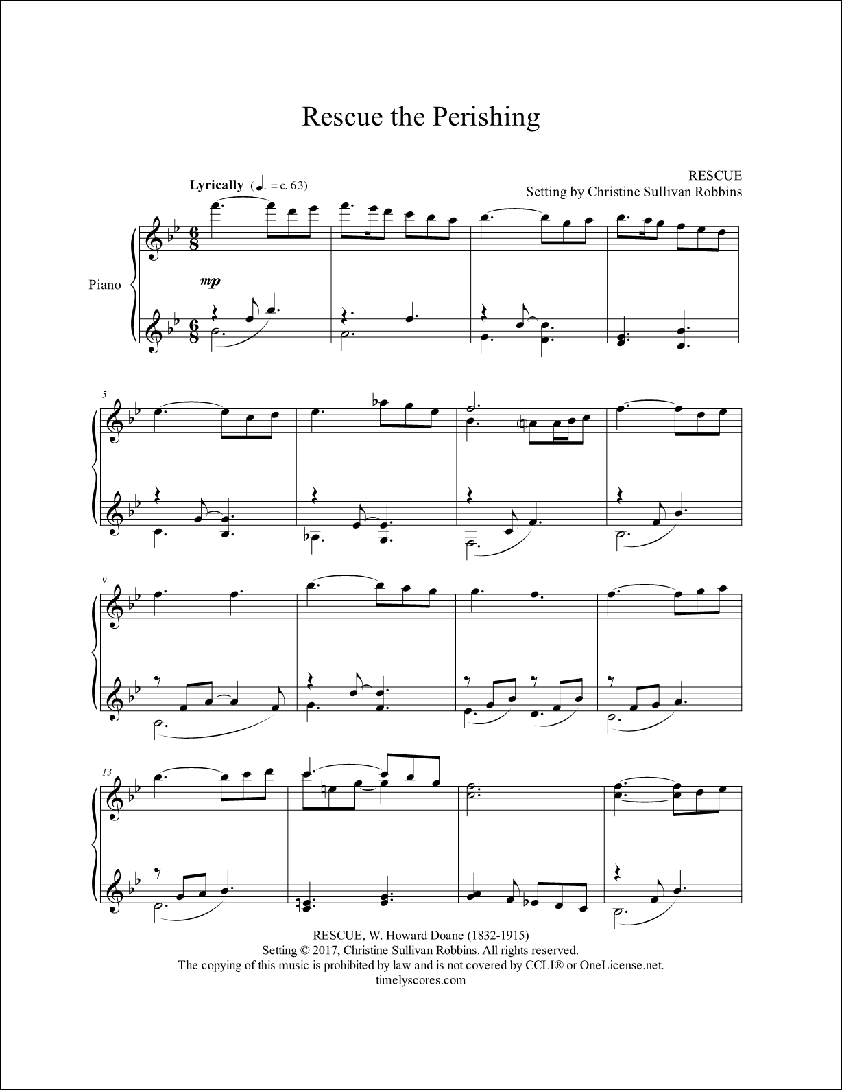 Rescue the Perishing Piano Sheet Music
