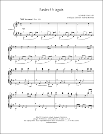 Revive Us Again Piano Sheet Music
