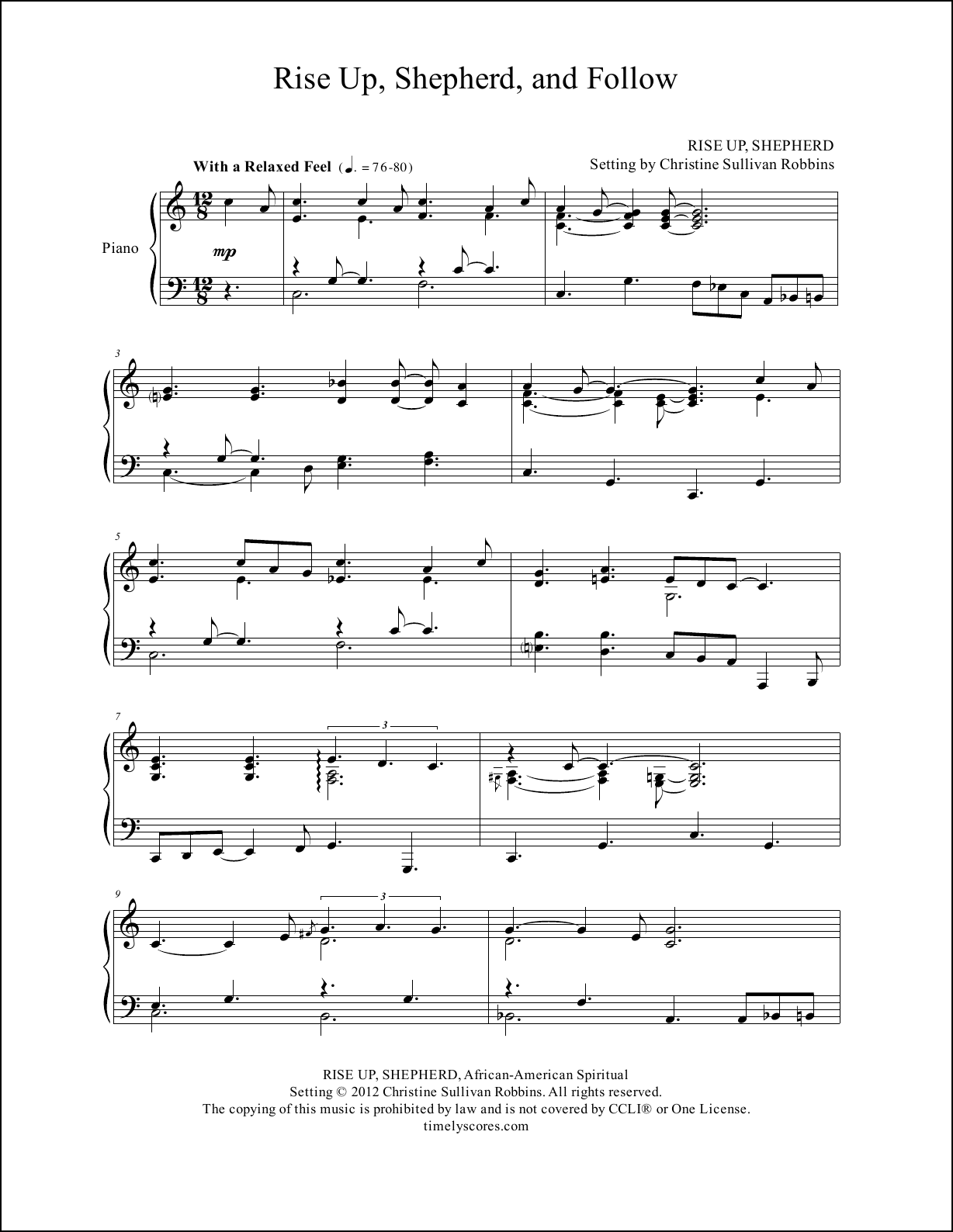 Piano Sheet Music – Advent, Christmas & Epiphany – Timely Scores