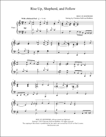 Rise Up Shepherd and Follow Piano Sheet Music