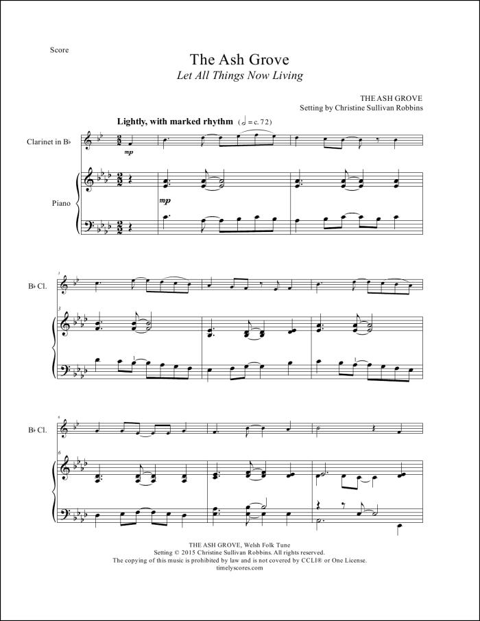 The Ash Grove Clarinet Sheet Music