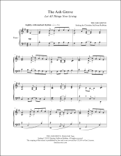 The Ash Grove (Let All Things Now Living) Piano Sheet Music