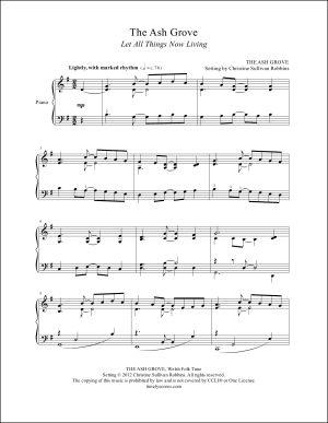 Let All Things Now Living (Sent Forth by God's Blessing) Piano Sheet Music