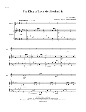 The King of Love My Shepherd Is Oboe and Piano Sheet Music