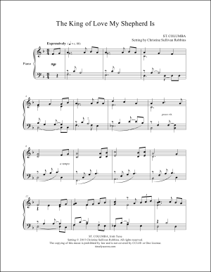 The King of Love My Shepherd Is Piano Sheet Music