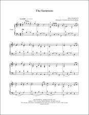 The Summons (Will You Come and Follow Me) Piano Sheet Music