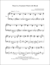 There Is a Fountain Filled with Blood Piano Sheet Music (affiliate link)