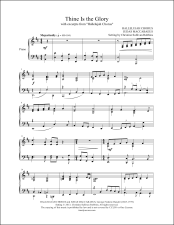 Thine Be the Glory with Hallelujah Chorus Piano Sheet Music (affiliate link)