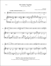 We Gather Together Oboe and Piano Sheet Music