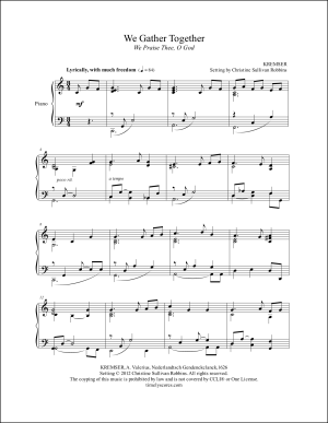 We Gather Together (We Praise You O God) Piano Sheet Music