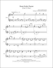 Dona Nobis Pacem Piano Sheet Music (affiliate link)