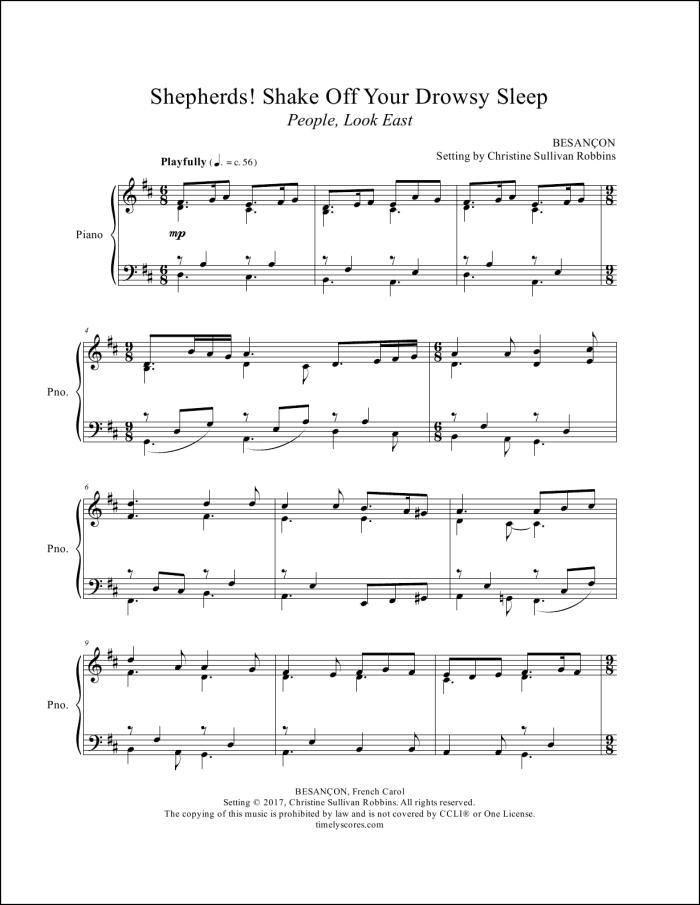 Shepherds Shake Off Your Drowsy Sleep (People, Look East) Piano Sheet Music