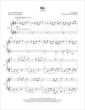 He Piano Sheet Music
