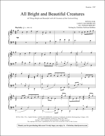 All Bright and Beautiful Creatures Piano Sheet Music
