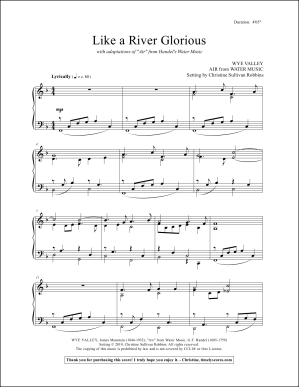 Like a River Glorious Piano Sheet Music
