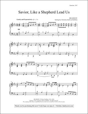 Savior, Like a Shepherd Lead Us Piano Sheet Music
