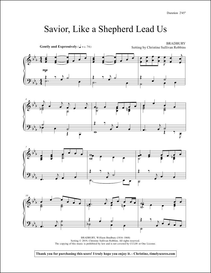 Savior Like a Shepherd Lead Us Piano Sheet Music